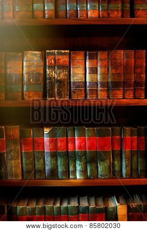 Old Books On The Shelves