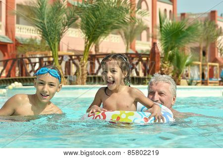 grandfather with grandchildren