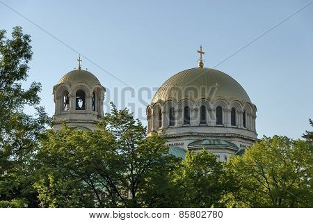 The roof of St. Alexander Nevsky Cathedral in Sofia