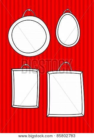 Hand drawn vector frames set
