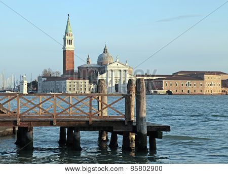 The Church Of San Giorgio Maggiore On Isola San Giorgio, Venice, Italy