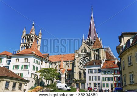 Lausanne Cathedral In Summer