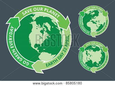 Earth Day Green Badge