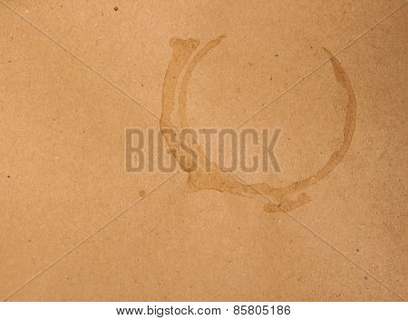 coffee spots on kraft background