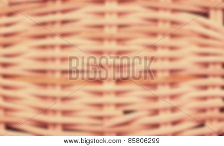 blurred wickerwork basket texture