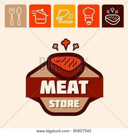 meat store logo