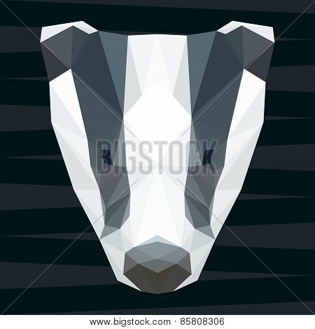 Abstract Polygonal Geometric Triangle Badger Background For Use In Design
