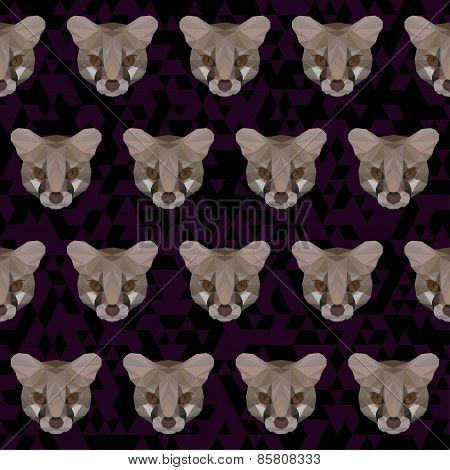 Abstract Polygonal Geometric Triangle Genet (genetta) Seamless Pattern Background For Use In Design