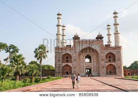 Tomb Of Akbar The Great In Agra, Uttar Pradesh, India