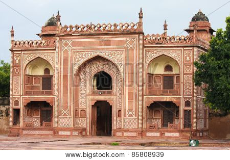 Entrance Of The Tomb Of I Timad Ud Daulah In Agra, Uttar Pradesh, India