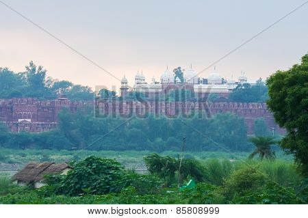 View On Agra Fort In Agra, Uttar Pradesh, India