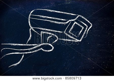 Cctv Security Camera Illustration