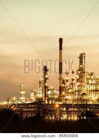 View Of The Refinery Petrochemical Plant In Gdansk, Poland