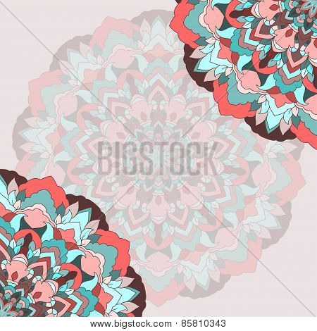 Hand-drawing Ornamental Abstract Lace Background For Use In Design