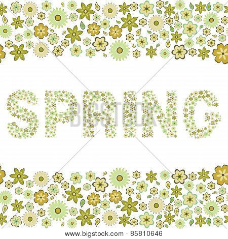 spring, floral seamless pattern,