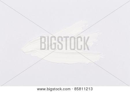 Paint Brush Stroke Over The White Paper