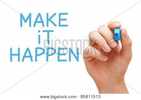 Make It Happen Blue Marker