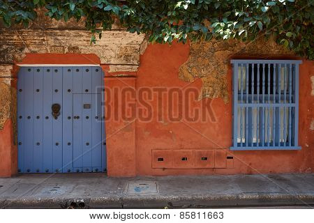 Colourful House in Cartagena de Indias