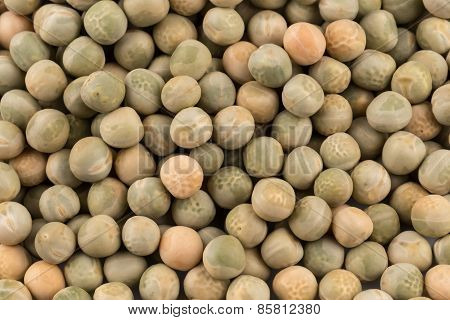 Whole Dried Green Peas Full Frame