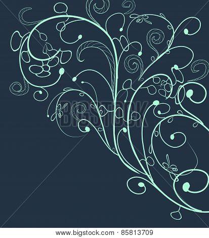 floral doodle, floral texture