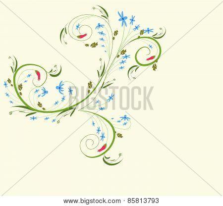 floral doodle background