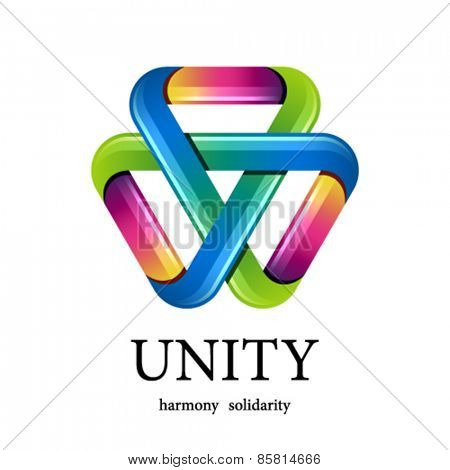 vector unity multicolor triangle icon