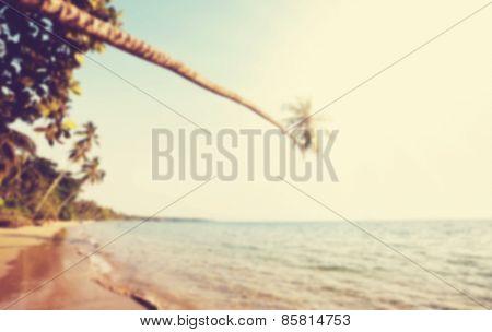 Tropical beach blur background