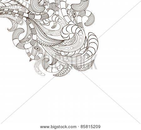 doodle art design background