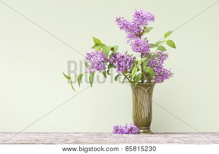 Purple Lilacs In A Vase