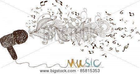 i love music doodle art