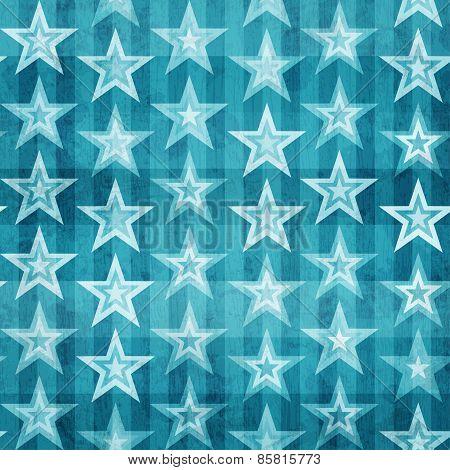 Grunge Blue Stars Seamless Pattern