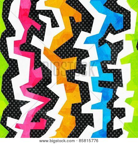 Grunge Bright Graffiti Seamless Pattern
