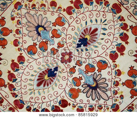 Traditional vintage embroidery from Uzbekistan