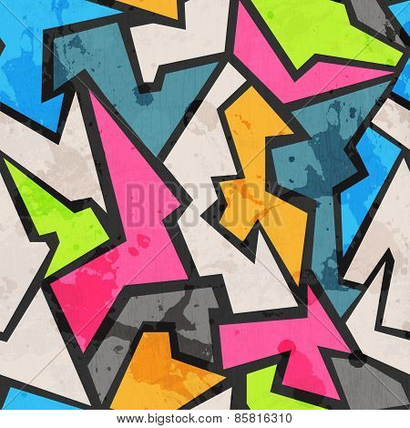 Grunge Colored Graffity Seamless Pattern