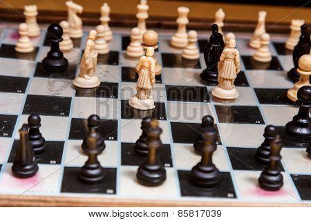 Chess Closeup Detail, Macro Photography