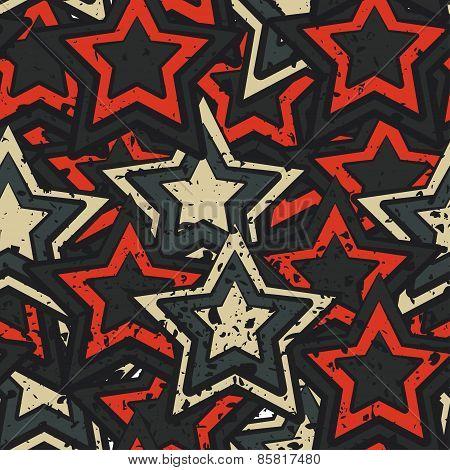 Grunge Stars Seamless