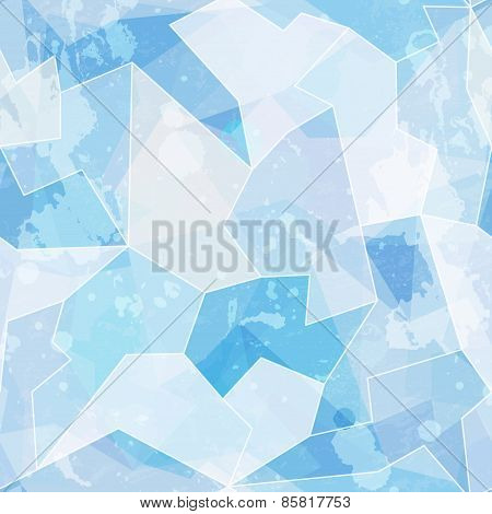 Ice Seamless Pattern With Grunge Effect