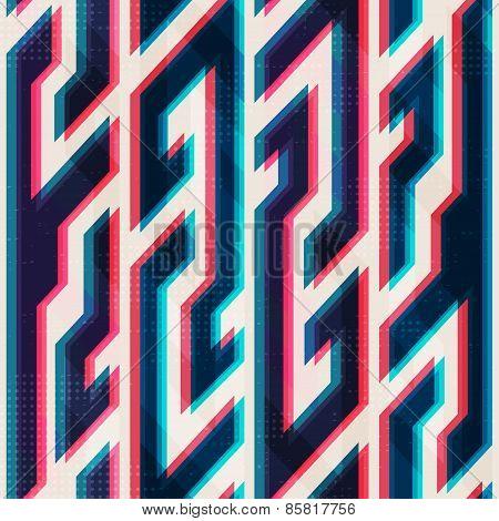 Illusion Geometric Seamless Pattern