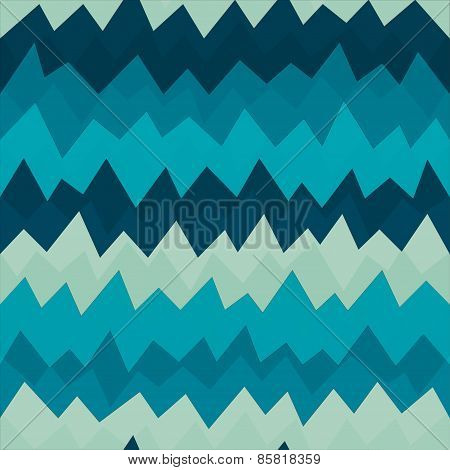 Marine Zigzag Pattern With Grunge Effect