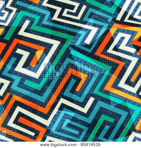 Modern Lines Seamless Pattern