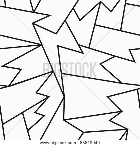 Monochrome Cracked Seamless Pattern