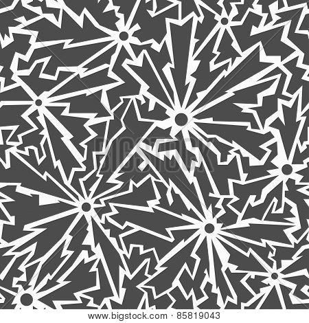 Monochrome Cracks Seamless Pattern