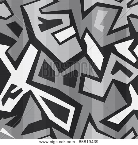 Monochrome Graffiti Seamless