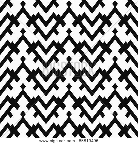 Monochrome Heart Seamless Pattern