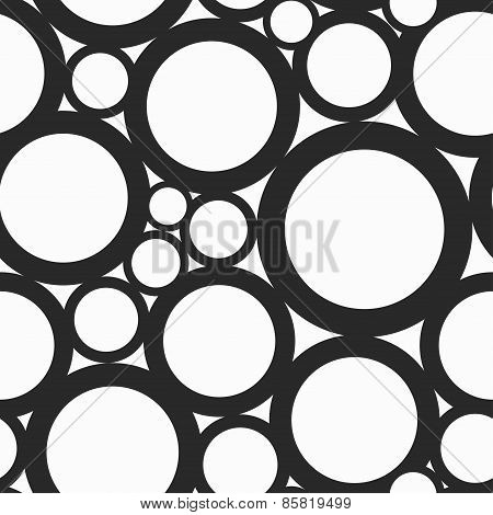 Monochrome Hole Seamless Pattern