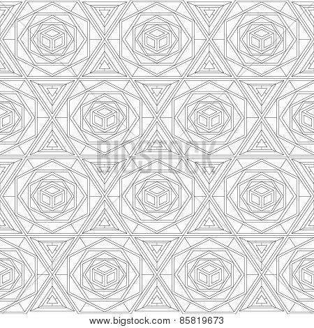 Monochrome Mosaic Seamless Texture