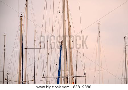 Silhouette Masts