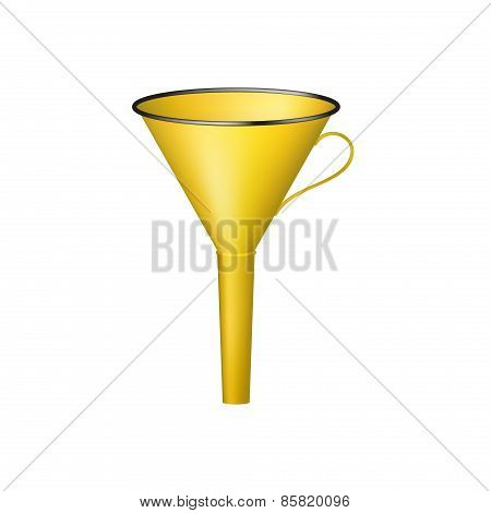 Funnel in orange design
