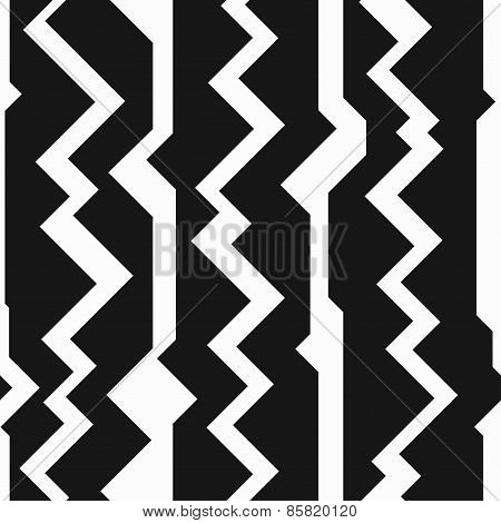 Monochrome Totem Seamless Pattern