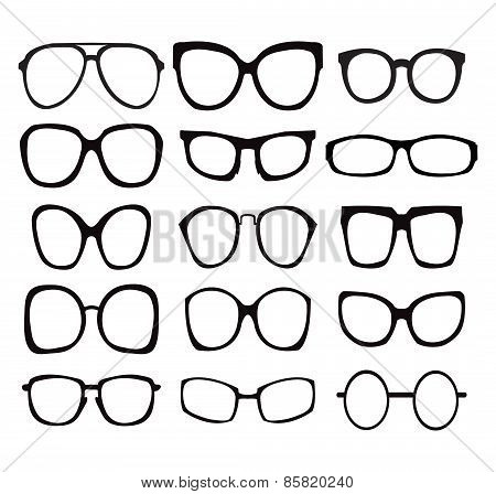 Vector Set Of Fashion Glasses Icon